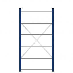 Ordner-Steck-Grundregal, einseitige Ausführung, HxBxT 2000x1070x315 mm, Oberfläche kunststoffbeschichtet