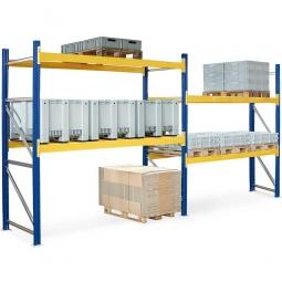 Palettenregal für 18 Europaletten, BxTxH 5710x1100x2500 mm, Fachlast 2900 kg/Tragbalkenpaar