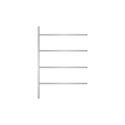 Aluminium-Anbauregal mit 4 geschlossenen Regalböden, Stecksystem, BxTxH 1375 x 400 x 2000 mm, Nutztiefe 340 mm