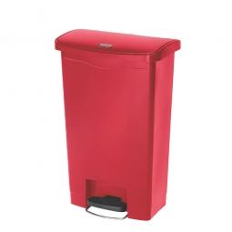 Tretabfalleimer SlimJim, 50 Liter, rot, LxBxH 457x292x719 mm, Polyethylen, Pedal an der Breitseite