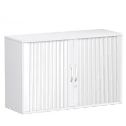 Rollladenschrank FLEX, 2OH, weiß, BxTxH 1200x425x798 mm