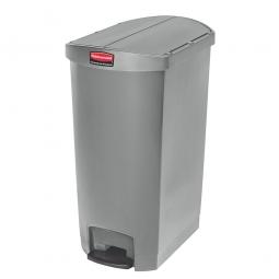 Tretabfalleimer SlimJim, 68 Liter, grau, LxBxH 562x374x782 mm, Polyethylen, Pedal an der Schmalseite