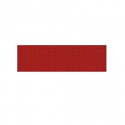 System-Schlitzplatte BxHxT 1500x450x18 mm, Aus 1,25 mm Stahlblech, kunststoffbeschichtet in verkehrsrot