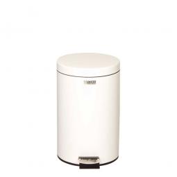 Pedaleimer 13 Liter, ØxH 292 x 435 mm, weiß