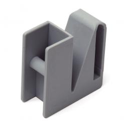 Eckverbindungsklammer für Aluminiumregale mit Gitterregalböden aus Kunststoff, VE = 2 Stück