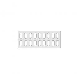 Gitterregalboden aus Kunststoff (Polystyrol), BxT 950 x 380 mm, bestehend aus 2 Bodensegmenten