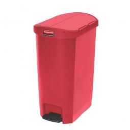 Tretabfalleimer SlimJim, 50 Liter, rot, LxBxH 528x344x721 mm, Polyethylen, Pedal an der Schmalseite