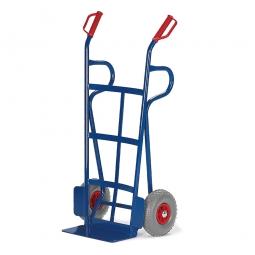 Stahlrohrkarre mit Vollgummibereifung, Höhe 1250 mm, Tragkraft 250 kg