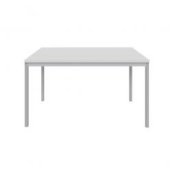 """Schreibtisch """"Classic"""", BxTxH 1000x800x720 mm, Gestell lichtgrau, Dekor lichtgrau"""