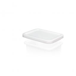 Stülpdeckel für Euro-Schwerlastbehälter, weiß, LxB 400x300 mm, Polyethylen-Kunststoff (PE-HD)