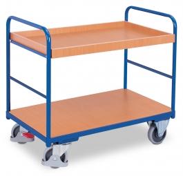 Etagenwagen mit 1 Tablett und 1 Boden, LxBxH 910 x 500 x 950 mm, Tragkraft 250 kg