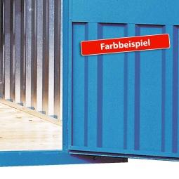 Außenlackierung für Materialcontainer
