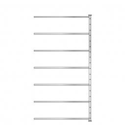 Ordner-Steck-Anbauregal, doppelseitige Ausführung, HxBxT 2300x1235x630 mm (2x315 mm), Oberfläche glanzverzinkt