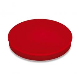 Haftmagnete, rot, Durchmesser 40 mm, Haftkraft 800 g, Paket=10 Magnete