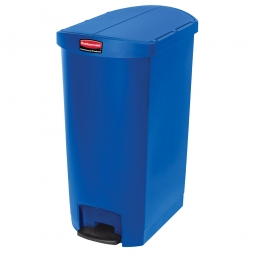 Tretabfalleimer SlimJim, 68 L., Polyethylen, blau, LxBxH 562x374x782 mm, Pedal an der Schmalseite, 1883596