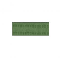 System-Schlitzplatte BxHxT 1200x450x18 mm, Aus 1,25 mm Stahlblech, kunststoffbeschichtet in resedagrün