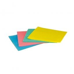 Schwammtuch, grün, LxB 175 x 195 mm, Lieferung erfolgt vorgefeuchtet, Paket = 10 Schwammtücher