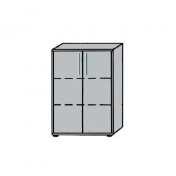 Büroschrank, 3OH, Lichtgrau, HxBxT 1145x800x345 mm