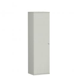Garderobenschrank PRO, lichtgrau, BxTxH 600x425x1920 mm, 1 Fachboden, 1 Kleiderstange