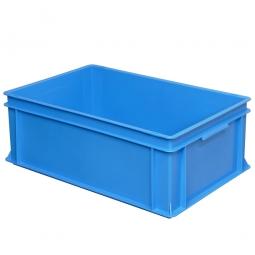 Eurobehälter mit 2 Griffleisten, LxBxH 600 x 400 x 220 mm, 43 Liter, blau
