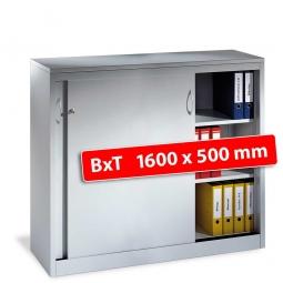 Schiebetürenschrank, 3 Ordnerhöhen, BxTxH 1600 x 500 x 1200 mm