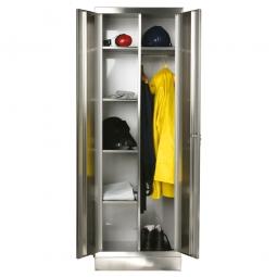 Edelstahl-Wäscheschrank, HxBxT 1800x600x500 mm, Material V2A-4301, 1 mm stark