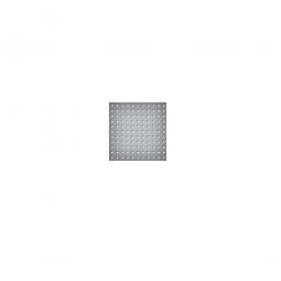 System-Lochplatte, BxH 500x450 mm, Aus 1,25 mm Stahlblech, kunststoffbeschichtet in lichtgrau