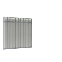 Trapezblech-Rückwand für universelle Überdachung, Breite 2145 mm