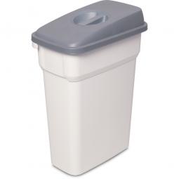 Abfall- und Wertstoffbehälter mit Griffmulde, BxTxH 290 x 490 x 680 mm, eckig, 55 Liter