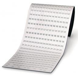 12 Datumsstreifen für Jahreskalender, Mit 31 Tagen, magnetisch