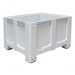 Großbox / Großbehälter mit 4 Füßen, 610 Liter, LxBxH 1200 x 1000 x 760 mm, Boden/Wände geschlossen, grau