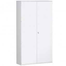 Garderobenschrank PRO, weiß, BxTxH 1200x425x2304 mm, 7 Fachböden, 1 Kleiderstange