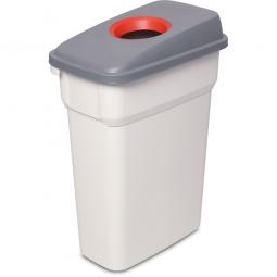 Abfall- und Wertstoffbehälter mit Einwurfloch, BxTxH 290 x 490 x 680 mm, eckig, 55 Liter