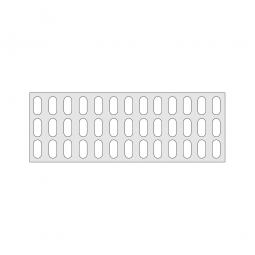 Gitterregalboden aus Kunststoff (Polystyrol), BxT 1350 x 480 mm, bestehend aus 3 Bodensegmenten