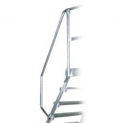 Handlauf aus Aluminium, rechte Seite, einseitig, passend für 5 + 6 Stufen