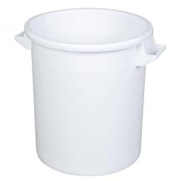 Rundtonne, 50 Liter, Ø oben/unten 450/360 mm, Höhe 480 mm, weiß