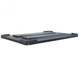 Stapeldeckel für verrippte Palettenboxen, LxB 1200x800 mm, anthrazit