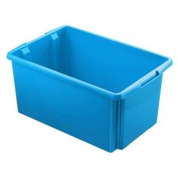 Leichter Drehstapelbehälter, LxBxH 595 x 395 x 280 mm, 51 Liter, blau