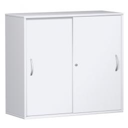 Schiebetürschrank PRO 3 Ordnerhöhen, weiß, BxHxT 1600x1152x425 mm