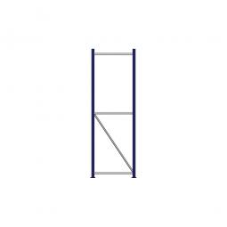Regalrahmen für Weitspannregale, Stecksystem, fertig montiert, TxH 600 x 2000 mm, Rahmenbreite 40 mm
