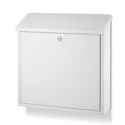 Briefkasten mit Zylinderschloss, HxBxT 360 x 360 x 100 mm, weiß