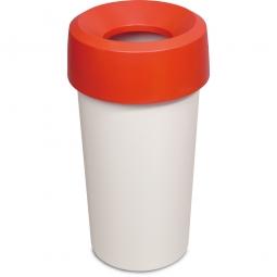 Wertstoffsammler, rund, ØxH 390 x 730 mm, 50 Liter, rot