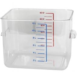 Platzsparbehälter, viereckig, LxBxH 290 x 265 x 195 mm, 12 Liter, glasklar