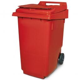 Müllbehälter, 360 Liter, rot, BxTxH 600 x 875 x 1100 mm, Polyethylen (PE-HD)