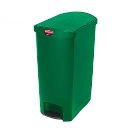 Tretabfalleimer SlimJim, 50 Liter, grün, LxBxH 528x344x721 mm, Polyethylen, Pedal an der Schmalseite