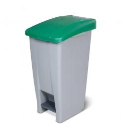 Tret-Abfallbehälter mit Rollen, PP, BxTxH 380 x 490 x 700 mm, 60 Liter, grau/grün