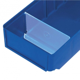 Querteiler für Regalkästen CLASSIC B 152 mm, Kunststoff, transparent, VE=25 Stück