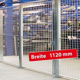 Maschinenschutz-Einzelflügeltür, Türbreite 1120 mm, Öffnungsmaß 1000 mm
