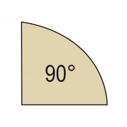 Verkettungsplatte, Viertelkreis 90°, Ahorn, BxT 800x800 mm