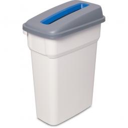 Abfall- und Wertstoffbehälter mit Einwurfschlitz, BxTxH 290 x 490 x 680 mm, eckig, 55 Liter